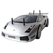 01:10 rc 15 motor 2-trinns girkasse 4wd nitro gass slv Lamborghini bil (yx00556-2)