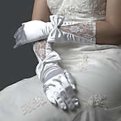 Lycra Fingertips Elbow Length Bridal Gloves