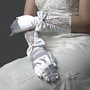 лайкра пальцев локтя перчатки длиной свадебной.