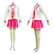 cosplay kostuum geïnspireerd door lucky star Japanse school uniform rode ver.
