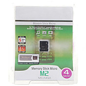Memory Stick Micro M2 flash-minnekort med PRO Duo adapter (4GB)