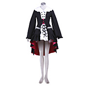 Lolita Style Cosplay Costume Inspired by Haruhi Suzumiya Series Yuki Nagato
