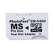 dual microSD / hc a MS Pro Duo tarjetas de memoria del adaptador (blanco)