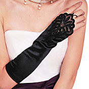 en satin fingerless gants de coude longueur de soire