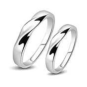Chic 925 Sterling Silver His & Hers Rings (Set of 2)