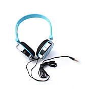 Stylish Skull Pattern Headphones (Blue)