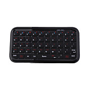mini bluetooth tastatur for wince/s60/ios4.0 mobiltelefoner (svart)
