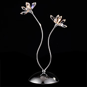 Asfour Crystal Table Light with 2 Lights - Floral Design (G4 Bulb Base)
