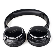 auriculares estreo con una funcin de reproductor de mp3 y radio FM (negro)
