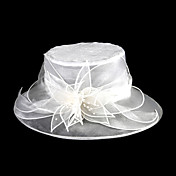Gorgeous Organza With Sequin Wedding/ Honeymoon Hat