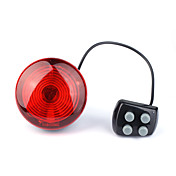 Bicycle Bike 6 Red LED Rear Torch Safety Warning Light