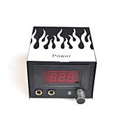 Exquisite LCD Professional Tattoo Power Supply  System With Flame
