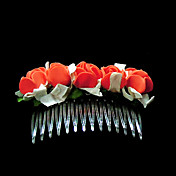 Lovely Foam Flower Wedding Flower Girl Combs/ Headpiece (More colors)