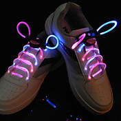Flash Grow Stick Pink Light Waterproof LED Shoelace (1-Pair)