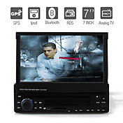 Autoradio DVD 7 pouces / GPS / Compatible IPOD / Bluetooth / Fonction TV / Radio RDS