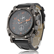 Gladiator - Herre Sport PC Quartz Armbndsur med Sort PU Lderrem