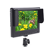 7 tommers widescreen p kameraet dslr HD LCD-skjerm (1080p, hdmi i + ut)