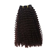 100% Indian Remy Hair 16&quot; Machine Made Spring Curl Weft 26 Colors To Choose