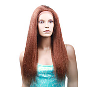 "Custom Full Lace Kinky Straight 18"" Indian Remy Hair 26 Colors To Choose"