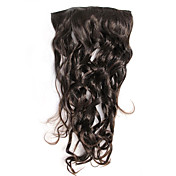 Fashion Black Curly Clip In Hair Extension