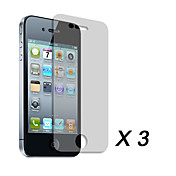 Clear Screen Protector Film for Apple iPhone 4 (3 pcs)