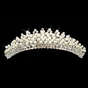 legering med strig rhinestones / imiteret perle bryllup brude tiara