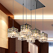 CLARENDON - Lustre Cristal com 6 Lmpadas