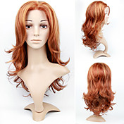 Lace Front Long High Quality Synthetic Golden Brown European Wave Hair Wig