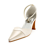 Satin Upper Chunky Heel Sandals With Sparkling Glitter Wedding Shoes More Colors Available