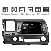 7 tommers bil dvd spiller for Honda Civic 2006-2011 med gps ipod bluetooth tv