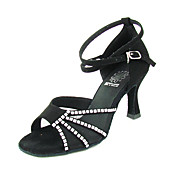 Velvet Upper Dance Shoes Ballroom Women Latin Shoes