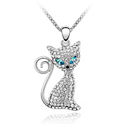 Crystal Electric Eye Cat Necklace