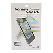 LCD Screen Protector with Cleaning Cloth for HTC G7/Desire