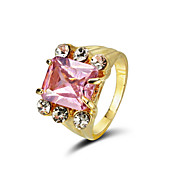 Marvelous Cubic Zirconia With 18K Gold Plated Ring More Colors Available