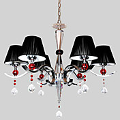 Crystal Chandelier with 6 lights in Black Shade