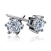 Cubic Zirconia Sterling Silver Earrings