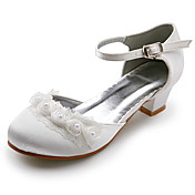 Top Quality Satin Upper Low Heel Closed-toes Flower Girls Shoes/ Wedding Shoes.More Colors Available