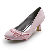 Top Quality Satin Upper High Heel Closed-toes Fashion Shoes