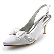 Top Quality Satin Upper High Heel Slingback Wedding Bridal Shoes.More Colors Available