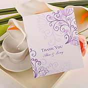 Thank You Card - Lilac Flowers (Set of 50)