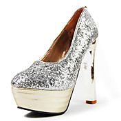 Sparkling Glitter Platform Chunky Heel Party/Evening Shoes  With Sequins (More Colors)