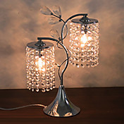 Artistic Crystal Table Light with 2 Lights