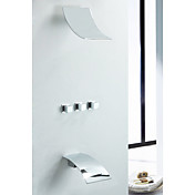 Contemporary Wall Mount Rain Shower Faucet (Chrome Finish)