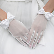 tulle gants poignets longueur de marie avec l'arc