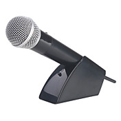 Universal Wireless USB Karaoke Microphone with Stand for Wii/Wii U, PS3, Xbox 360, PC and PS2 (Black)