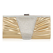 Velvet With Crystal/Rhinestone Evening Clutch (More Colors)