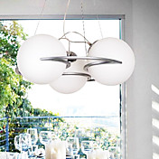 Ceiling Light with 3 Lights in Warm White Shade