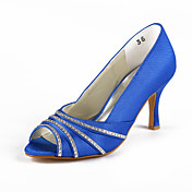 Satin Stiletto Pumps With Rhinestone For Wedding (More Colors)