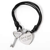 gepersonaliseerde armband met sleutel en hart charmes
