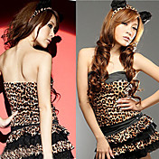 Leopard Pattern Polyester Sexy Costume (3 Pieces)